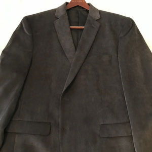 Like-New Dark Gray Suede Calvin Klein Blazer